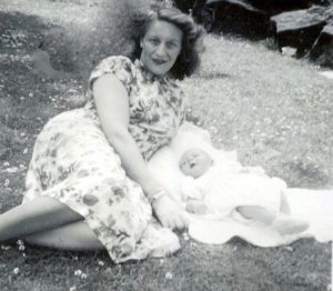 Gavin and his Mum in East Park, Hull, 1950