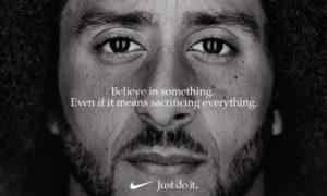 A new Nike advertisement features former NFL quarterback Colin Kaepernick. [Via MerlinFTP Drop]
