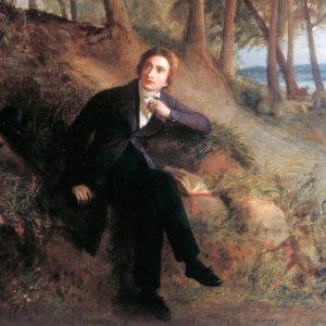 keats in countryside